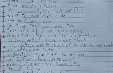 Otizmli Bir Çocuğun Yazdığı Şiir: