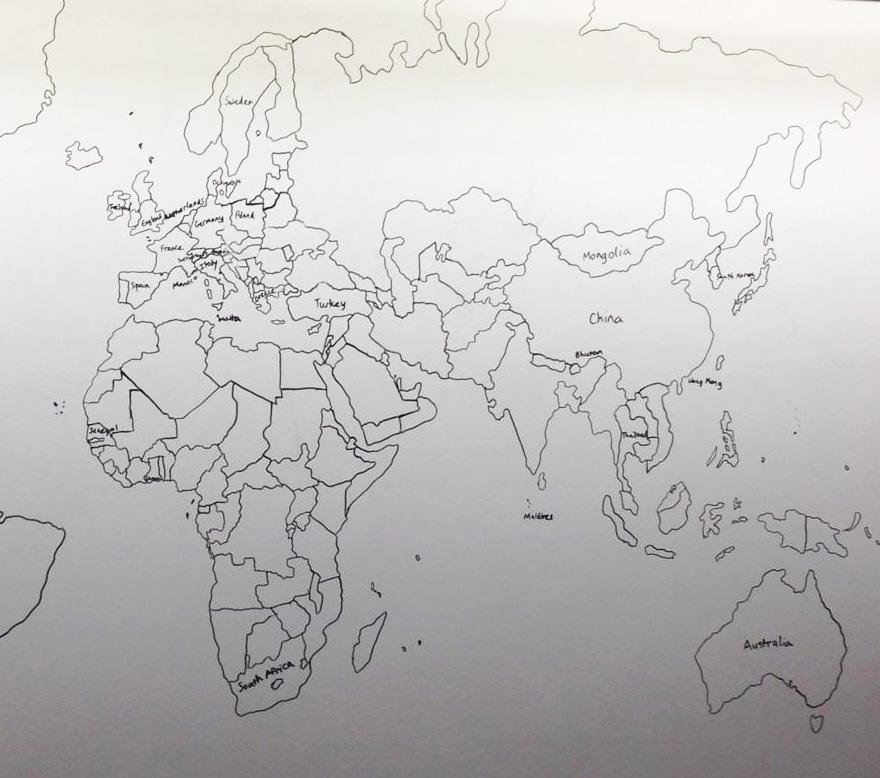 Otizmli 11 Yaşındaki Çocuk Dünya Haritasını Tamamen Ezberinden Çizdi
